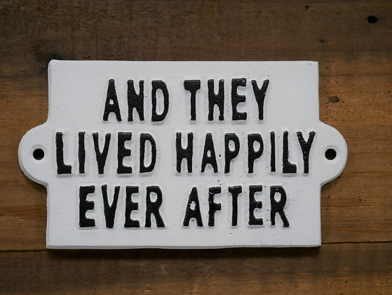 Happy ever after wall sign