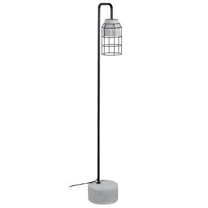 Cage concrete floor lamp
