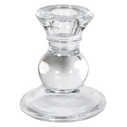 Clear candleholder