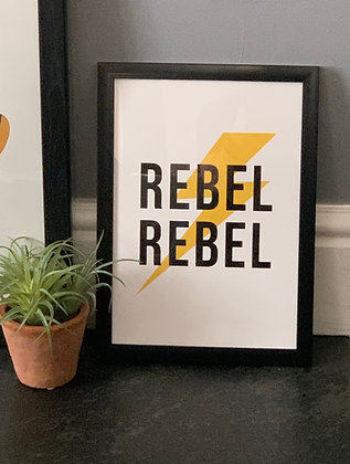Rebel Rebel A4 Framed  Print