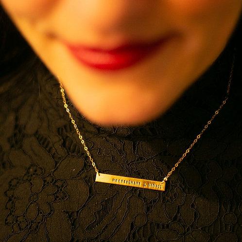 'prettysmart+badass' necklace