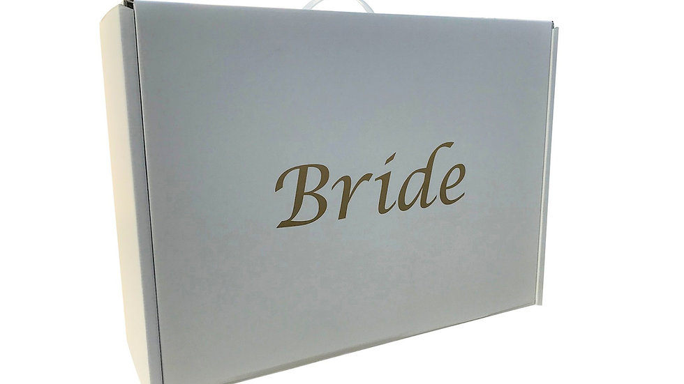 Wedding dress storage and Airline Travel box Very Strong. Gold Bride
