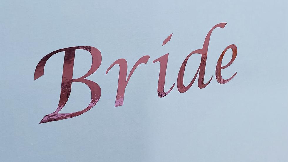 "Wedding dress storage and Airline travel box. ""Bride"" Rose Gold"