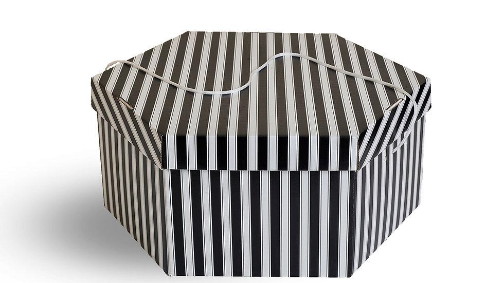 Wedding hat storage box. Black and White