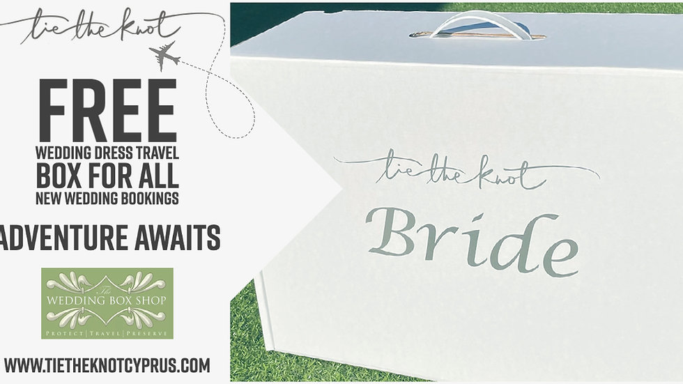 """""""Tie the knot"""" bridal travel box. FREE shipping"""