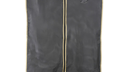 Black with Gold edging garment cover bag