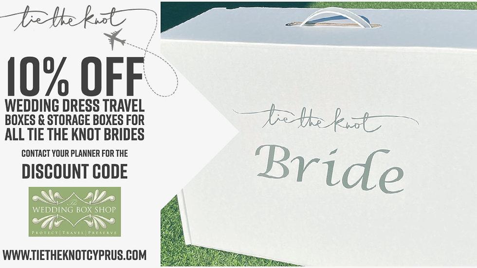 "Tie the knot ""Bride"" travel box"