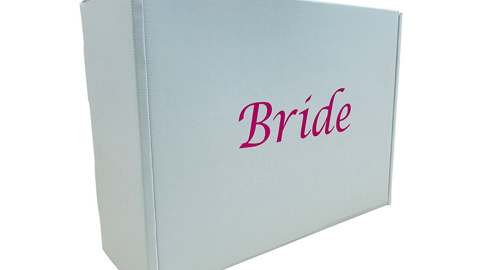 Wedding dress storage and Airline Travel box Very Strong. Pink Bride