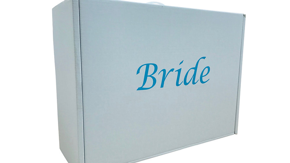 Wedding dress storage and Airline Travel box Very Strong. Blue Bride