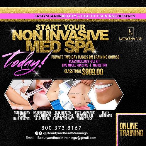 Non Invasive Med Spa Online  Training