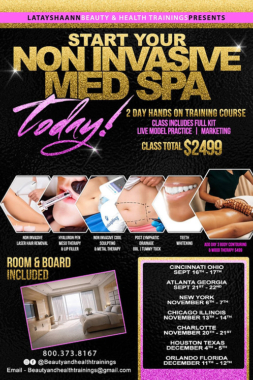Non invasive med spa 2 day group  training