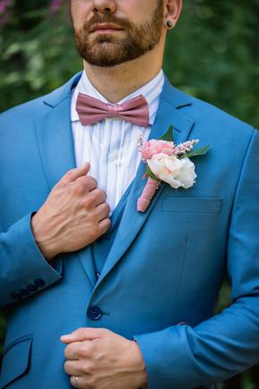 Boutonniere, wedding flowers, groom