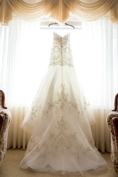 Highwood Lutheran Church Wedding dress portrait