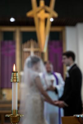 Highwood Lutheran Church Wedding, Bride and Groom