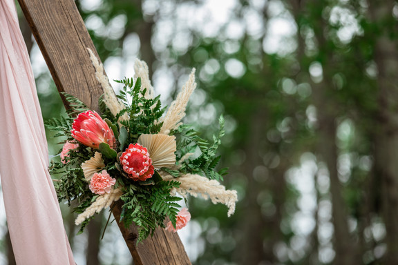 Wedding arch design, Protea flowers