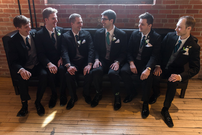 Calgary Char Bar Wedding Reception Groomsmen