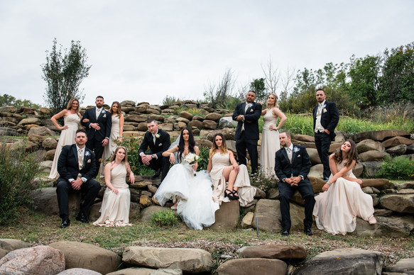 Calgary Wedding Photography, Outdoor weddings, Bridal party