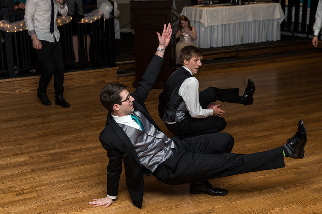 Calgary Char Bar Wedding Reception, Groom dancing