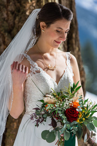 Bridal bouquet, wedding flowers, floral shot