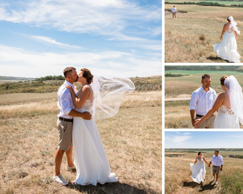 Farm wedding first look photos, Bride and groom seeing each other for the first time