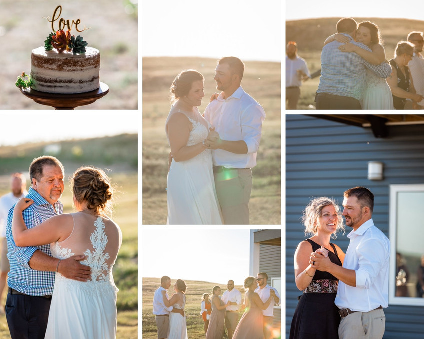 Bride and groom's first dance on their beautiful farm wedding. As well as their first dance with their parents.