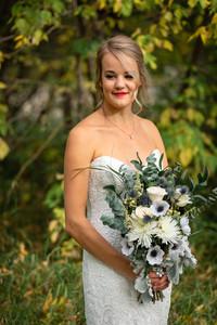 Wedding flowers, bridal bouquet, floral shot
