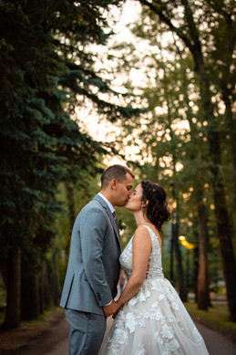 Calgary Wedding Photography, Summer Wedding, First Kiss