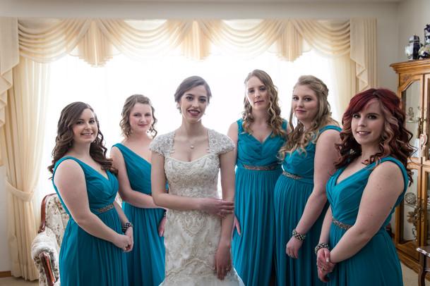 Highwood Lutheran Church Wedding Bridesmaids