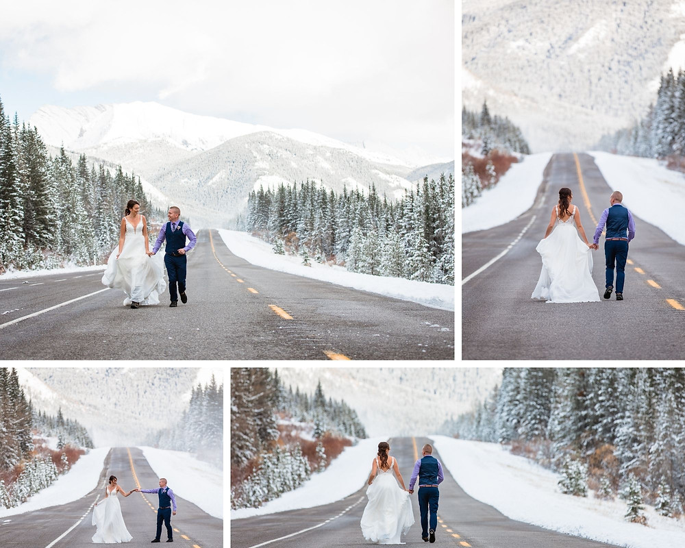 winter wedding in the Rocky Mountains elopement photography category