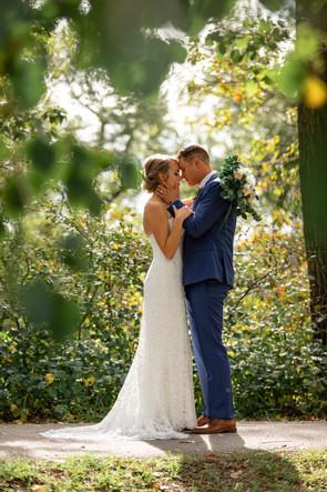 Bride and groom, Calgary wedding, intimate moments