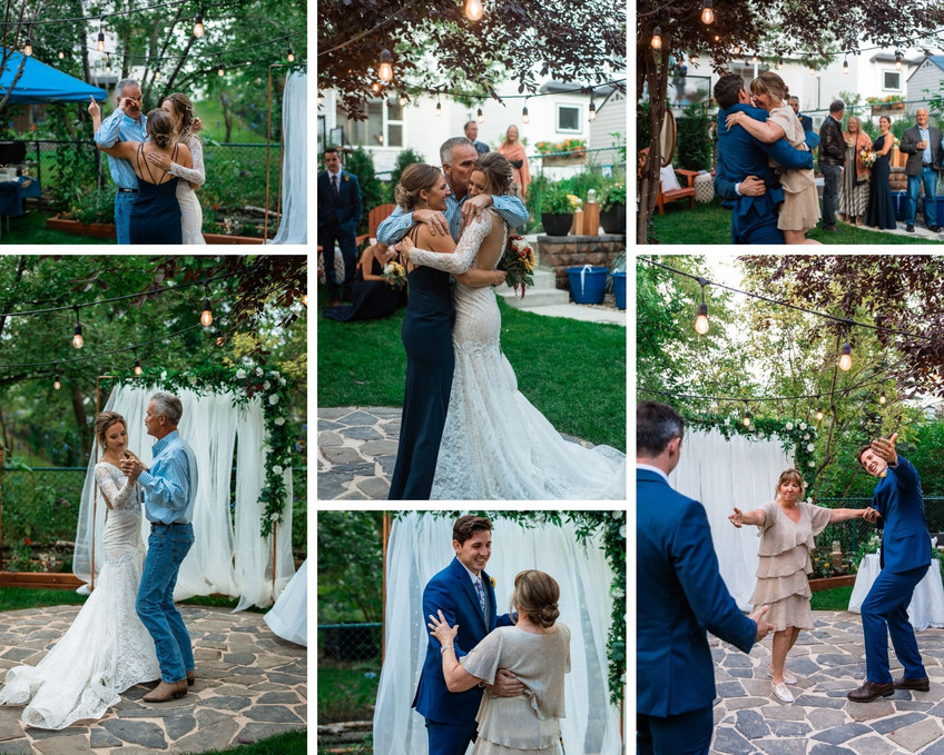 First dances in backyard along with siblings joining in.