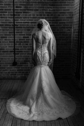 Calgary Char Bar Wedding Reception Formal Photos, Brides dress