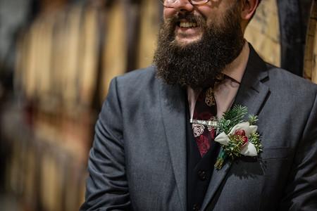 Boutonniere, groom, wedding flowers