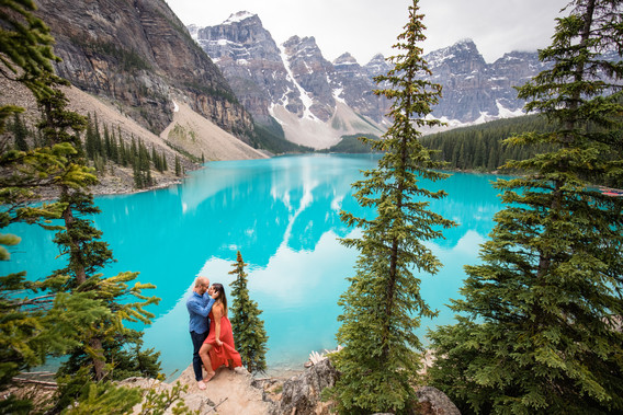 Moraine Lake Engagement, Calgary wedding Photographer