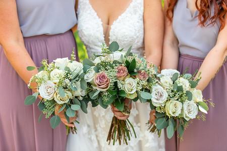 Bridal bouquet, wedding party bouquets, floral shot