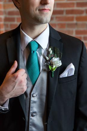 Calgary Char Bar Wedding Reception Groom's details