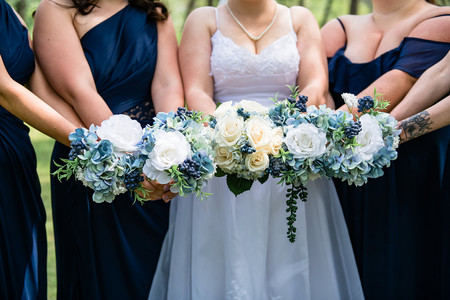 Wedding flowers, bridal party flowers, bridal bouquet