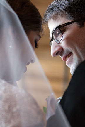Calgary Char Bar Wedding Reception Bride and Groom Portrait