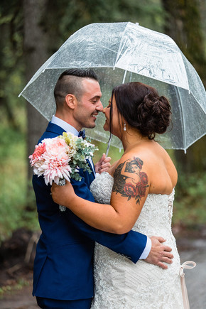 Bridal bouquet, wedding flowers, bride and groom