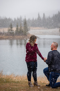 Winter Engagement Calgary, Calgary Wedding Photographer, Banff surprise proposal
