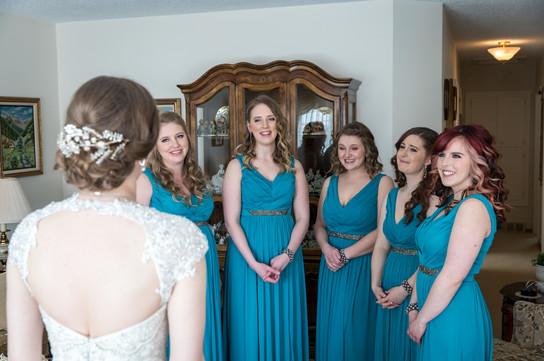 Highwood Lutheran Church Wedding, girls getting ready