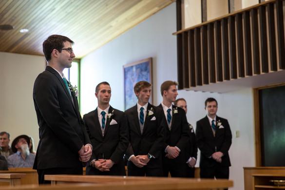 Highwood Lutheran Church Wedding, Groomsmen