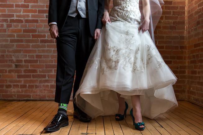 Calgary Char Bar Wedding Reception Bride and Groom