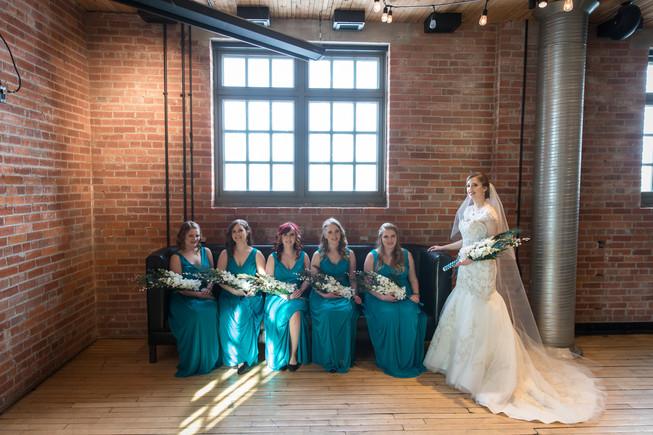 Calgary Char Bar Wedding Reception Bridal Party