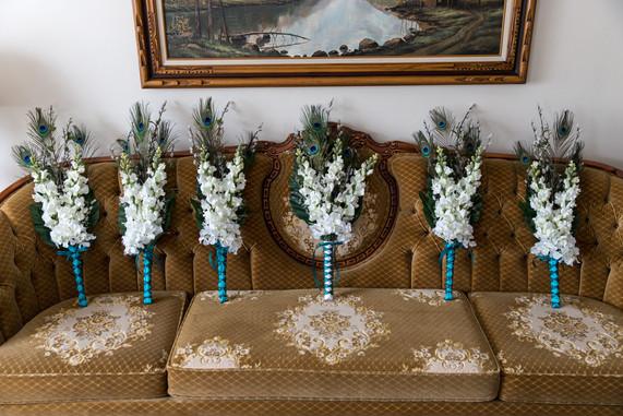Highwood Lutheran Church bridal flowers