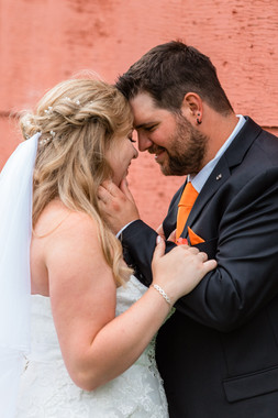 intimate moment, ride and groom, wedding veil
