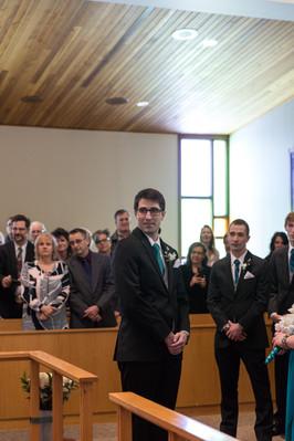 Highwood Lutheran Church Wedding, Groom's Portrait