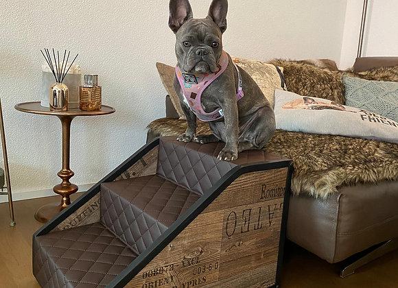 Hundetreppen 3 Stufig für Sofas  / Vintage Look