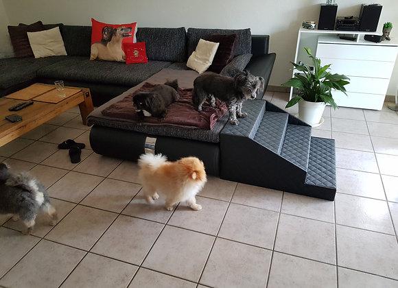 Hundetreppe 4 stufig für sehr alte Hunde