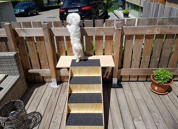 Hunde und Menschentreppe für Draussen